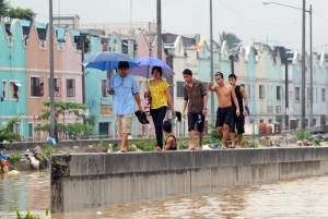 Flooded Manila Neighborhood  Ted Aljibe/AFP/Getty