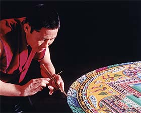 Mandala Sand Painting: Creating an Enlightened World