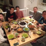 Xing Danwen, Danny Levinson, and company at Scarlett Li's home in Beijing.