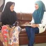 Farina and a Cham Muslim woman in Melaka State Malaysia. January 2013