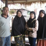 Farina with Cham Muslim in Ban Nam Chiao village Trat Province Thailand. March 2013