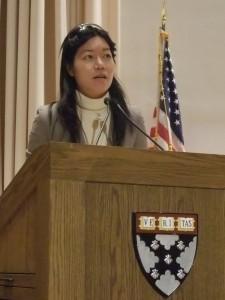 Vivian speaking at Harvard.