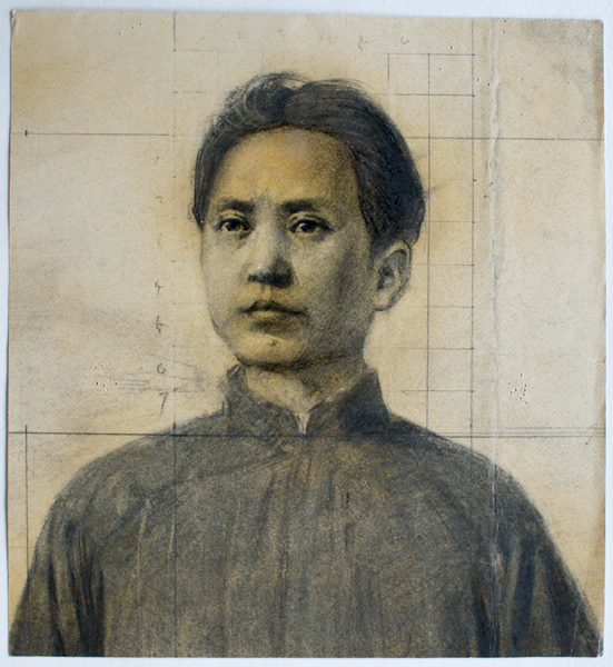 Oil paintings chinese and artists on pinterest for Chairman mao