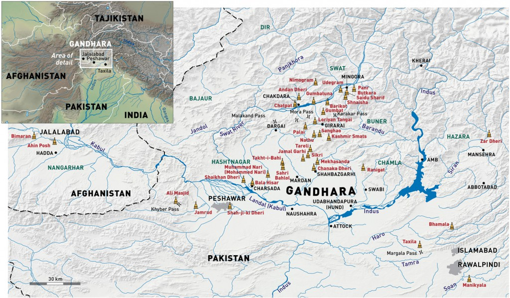 The most important archaeological sites in Gandhara.