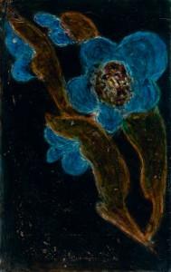 Untitled (Blue flowers)