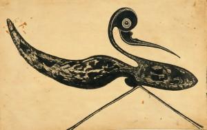 Untitled (Striding bird)