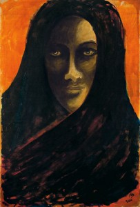 Untitled (Portrait of a woman with veil)