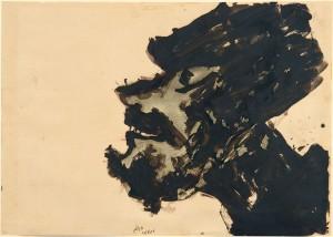 Untitled (Man's head with shaggy beard)